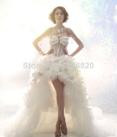 Find More Wedding Dresses Information about  2014 High Quality Luxury Rhinestones Short in front long Indian Style Sparkling set with Diamonds Wedding Dresses,High Quality Wedding Dresses from Sao Tome Garments Co., Ltd. on Aliexpress.com