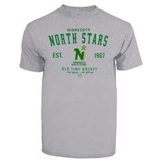 Old Time Hockey Minnesota North Stars Gray Arch Logo T-Shirt