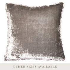 Pewter Silver Velvet Throw Pillow SFVELPWSL