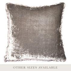 Pewter Silver Velvet Throw Pillow SFVELPWSL
