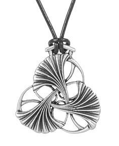 Britannia metal necklace jewelry, hung on adjustable length, quality leather…