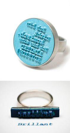 Kizzu, rubber stamp ring