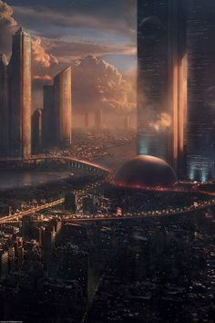 Concept art for Minority Report by James Clyne