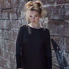 Hannah Claire bear black slouch dress inshore at Wanderer.
