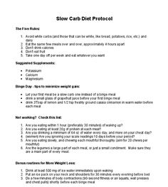 Slow Carb Eating Made Easy...: Slow Carb Diet Protocol