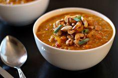 Indian Mulligatawny Soup. Just boil, and blend! From www.TheWanderlustKitchen.com - Gluten Free, Vegan (use vegetable broth)