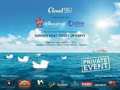 Cloud 961Summer Boat Tweet-Up Party! - Maze Solutions blog - web development - web design - social marketing