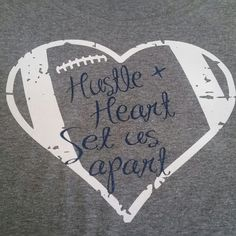 Hustle and Heart Football Shirt Football Mom Shirt Football Shirt Football Football Bling Footb - Grandma Shirt - Ideas of Grandma Shirt - Hustle and Heart Football Shirt Football Mom Shirt Football Shirt Football Football Bling Footb Football Locker Signs, Football Banner, Football Mom Shirts, Cheer Shirts, Football Football, Football Season, Sports Shirts, Football Spirit Signs, Football Locker Decorations