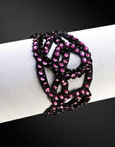 Zdenka Arko Amethyst Crystallized Bracelet BC11007-21 - Rhinestone Jewelry | Dancesport Fashion @ DanceShopper.com