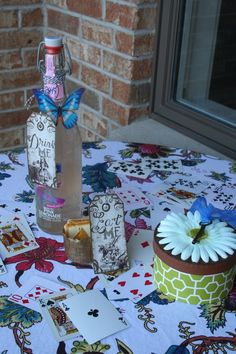This blog post has tons of idea for food, decorations, and activities for an Alice in Wonderland Mad Hatter tea party! Great for a girly birthday party. :)