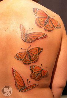 Sorce: springtattoo.com ------ butterfly tattoo  #tattoos #butterfly