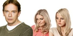 Ian Mandy and Lucy...Adam Woodyatt, Nicola Stapleton and Hetti Bywater.