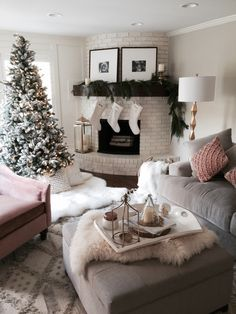 Winter wonderland living room... It's...perfect...