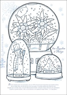 snow globes coloring pages - photo#9