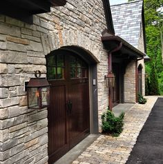 Popular of Design For Outdoor Carriage Lights Ideas 17 Best Ideas About Outdoor Garage Lights On Pin Modern Garage Doors, Wood Garage Doors, Garage Door Design, Garage Exterior, Exterior Paint, Outdoor Garage Lights, Garage Lighting, Outdoor Lighting, Lighting Ideas