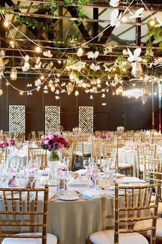 Butterfly wedding ideas for your reception. Warm and charming. It really invites you in, like a secret.