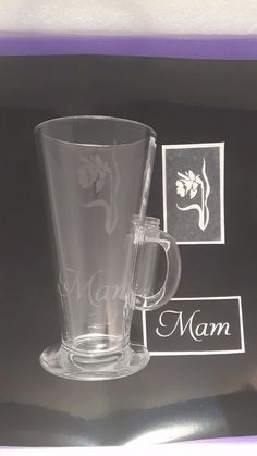 Mam word & daffodil mixed stencils for etching on glass  Mothers Day Wales welsh #DazzleGlitterTattoos