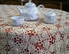 Irish Lace Crochet Tablecloth
