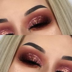 41 Top Rose Gold Makeup Ideas To Look Like a Goddess rose gold eye makeup, natural makeup, wedding makeup looks, rose gold makeup for brown eyes – Das schönste Make-up Gold Eyeliner, Gold Eye Makeup, Makeup For Brown Eyes, Smokey Eye Makeup, Skin Makeup, Eyeshadow Makeup, Drugstore Makeup, Shimmer Eyeshadow, Dramatic Makeup
