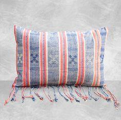 """""""Sumba French"""" Handwoven Ikat Pillow / Boho Pillows / Lumbar Pillow"""