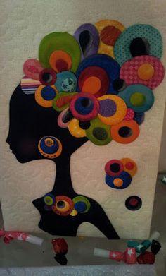 Negra Africana feita pela minha aluna Sonia, com a técnica do Oshiê. Foi um sucesso na III Limeira Patchwork 2012