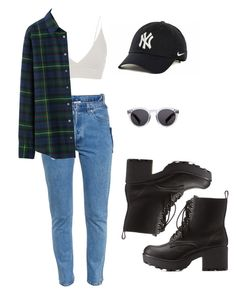 """""""Untitled #31"""" by itstorixox ❤ liked on Polyvore featuring Vetements, Topshop, Uniqlo, Charlotte Russe, Illesteva and NIKE"""