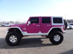 Pink Jeep Wrangler Unlimited Rubicon X   2008 Pink Jeep Wrangler 4WD 4dr Unlimited Rubicon Pink and White Jeep ...