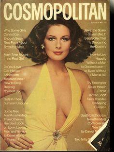 Cosmopolitan magazine, JULY 1974 Model: Cristina Ferrare Photographer: Francesco Scavullo
