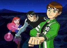 Ben 10: Alien Force - Gwen (Human/Anodite Hybrid), Ben, & Kevin (Human/Osmosian Hybrid)