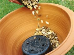 Fill Pot With Gravel