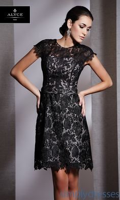2013 Buy Lace Short Black Cap Sleeves Cocktail/Homecoming/Informal DressesAl-5505 [AL-5505] - $225.00 : Be Sweet And Adorable In Short Dresses, White Short Dresses, Short Dresses For Prom
