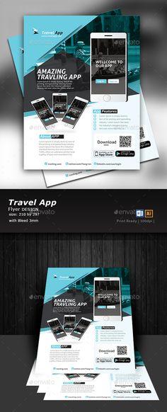 #App Flyer Design - Flyers Print Templates Download here: https://graphicriver.net/item/app-flyer-design-/17310585?ref=alena994