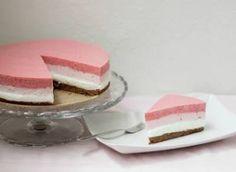 Co bude dobrého?: Ombre nepečený jahodový dort