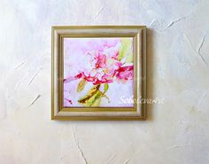 Sakura Pink christmas flower Ceramic Tile Wall Art Painting watercolor Pink Sakura Sublimation desk accessory Decorative Tile Bathroom Decor by SobolevaArt on Etsy