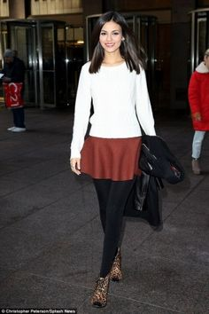 Victoria Justice wearing Louise Et Cie Vernonia Booties