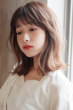 Pin on Good hair Medium Hair Styles, Short Hair Styles, Ulzzang Hair, Hair Arrange, Short Fringe, Stylish Hair, Perm, About Hair, Hair Highlights