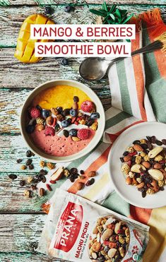Topping a smoothie bowl with a bit of trail mix is a healthy option that'll give your breakfast a boost of delicious crunch, protein, and tons of energy to start your day! #smoothie #recipe #smoothiebowl #nutrition