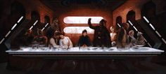 This is a massive Star Wars Last Supper mosaic using over 70,000 images! WOW!