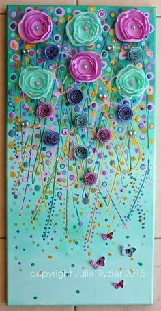 Im getting addicted these kinds of mixed media paintings I think!!  I love to look for beautiful fabrics and papers and beads to make the  ...