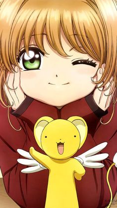 Sakura Kinomoto and Kero-chan (Cerberus) from Cardcaptor Sakura Cardcaptor Sakura, Sakura Kinomoto, Syaoran, Manga Anime, Fanarts Anime, Anime Characters, Animes Wallpapers, Cute Wallpapers, Kawaii Anime