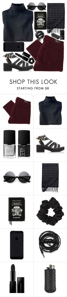 """#127"" by alianez ❤ liked on Polyvore featuring Paige Denim, Woolrich, NARS Cosmetics, Monki, Aspinal of London, Miss Selfridge, Urbanears, Illamasqua and Ateliers Ruby"