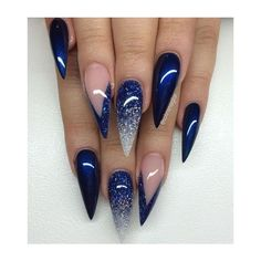 Stiletto Nails ❤ liked on Polyvore featuring beauty products and nail care