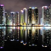 World Beautifull Places: Busan South Korea Nice View Reflection Photos, Reflection Photography, Night Photography, Marine City, Water Reflections, Night City, Urban Landscape, City Lights, Night Lights