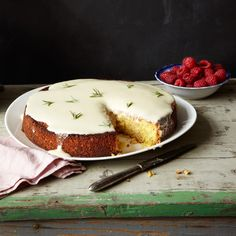 Polenta and freshly ground almonds give this cake its rustic, nutty texture.