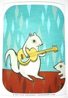 Rock Squirrel Art Print (Signed)