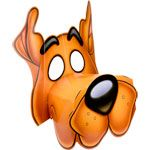 Scooby Doo Party Theme: Give out these scooby doo doggy mask's as favors or at the start of the party to get guests in character  — Linda Kaye's Partymakers
