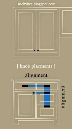 cabinet pulls placement. Sticky Bee. Cabinet Hardware Placement. Pulls Placement