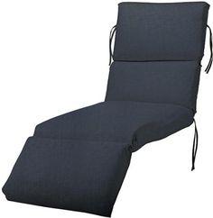 "Bullnose Chaise Outdoor Cushion, 4""Hx23""Wx80""L, INDIGO SUNBRELLA"