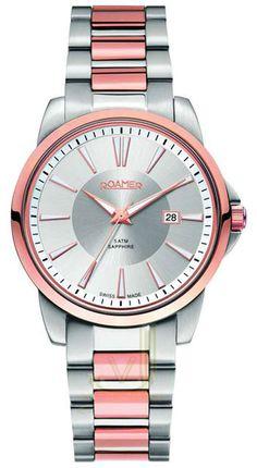 OROLOI.gr - ROAMER - ROAMER Ares Two Tone Rose Gold Stainless Steel  Bracelet Bering 043682828b
