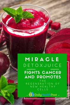 Juicing can actually be incredibly healthy for your body. The key here is to make it yourself instead of buying it from the store. This ancient detox juice fights cancer and promotes the regeneration of new healthy cells.Here's a simple healing recipe that has been used for centuries to purify the blood, boost your immune system and supply energy.